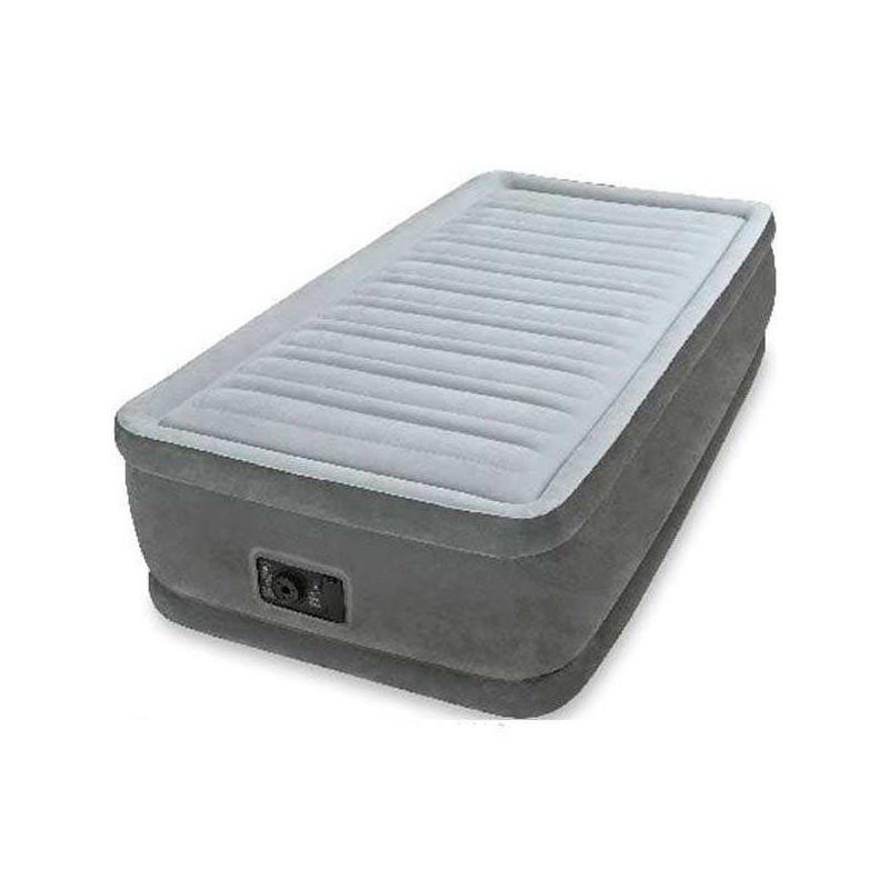 Intex Матрас комфорт твин 64412 односпальный, со встроенным насосом 220-240V , в коробке