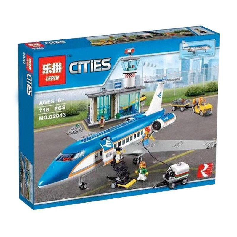 """Конструктор Lepin 02043 (аналог Lego City) """"Пассажирский терминал в аэропорту"""", 718 деталей"""