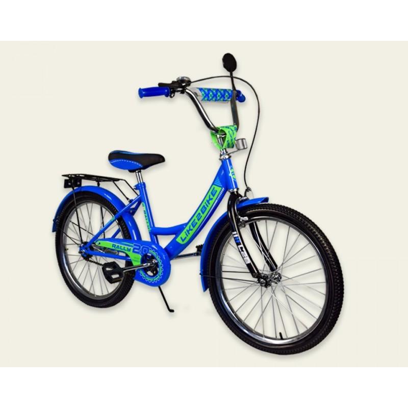 """Велосипед 2-х колёс 20"""" 192015 Like2bike RALLY, синий, без тренировочных колёс"""