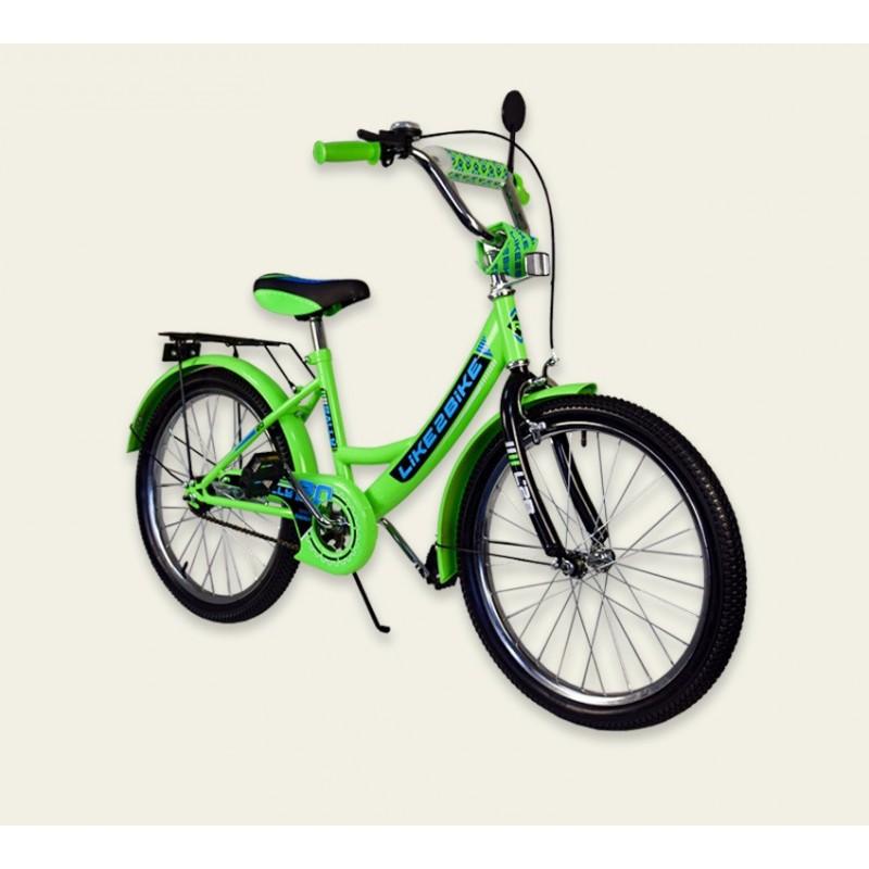 "Велосипед 2-х колёс 20"" 192014 Like2bike RALLY, зеленый, без тренировочных колёс"