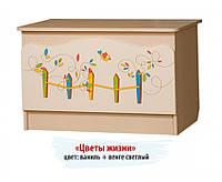 """Ящик для игрушек """"Цветы жизни"""" Y-1.V1"""