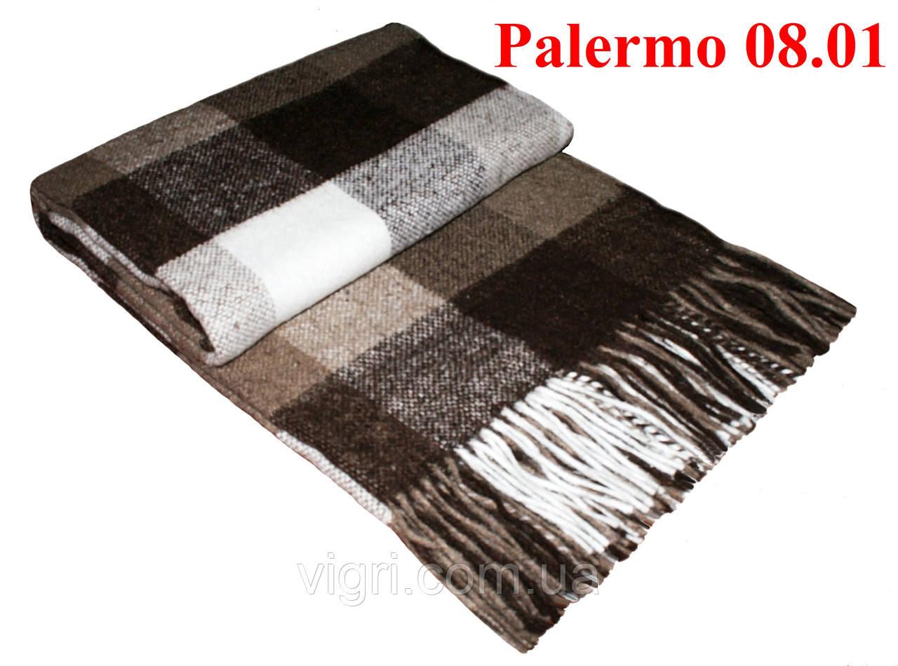 Плед полуторный 140х200, тм. VLADI, Палермо «Palermo» 08.01 (бел-беж-кор)