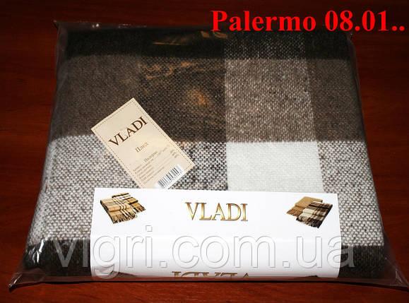 Плед полуторный 140х200, тм. VLADI, Палермо «Palermo» 08.01 (бел-беж-кор), фото 2