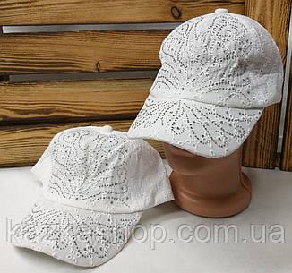 Подростковая тканевая кепка, ткань типа прошва, сезон весна-лето, с регулятором, размер 52-54, фото 2