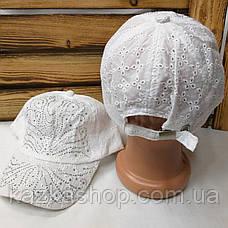 Подростковая тканевая кепка, ткань типа прошва, сезон весна-лето, с регулятором, размер 52-54, фото 3