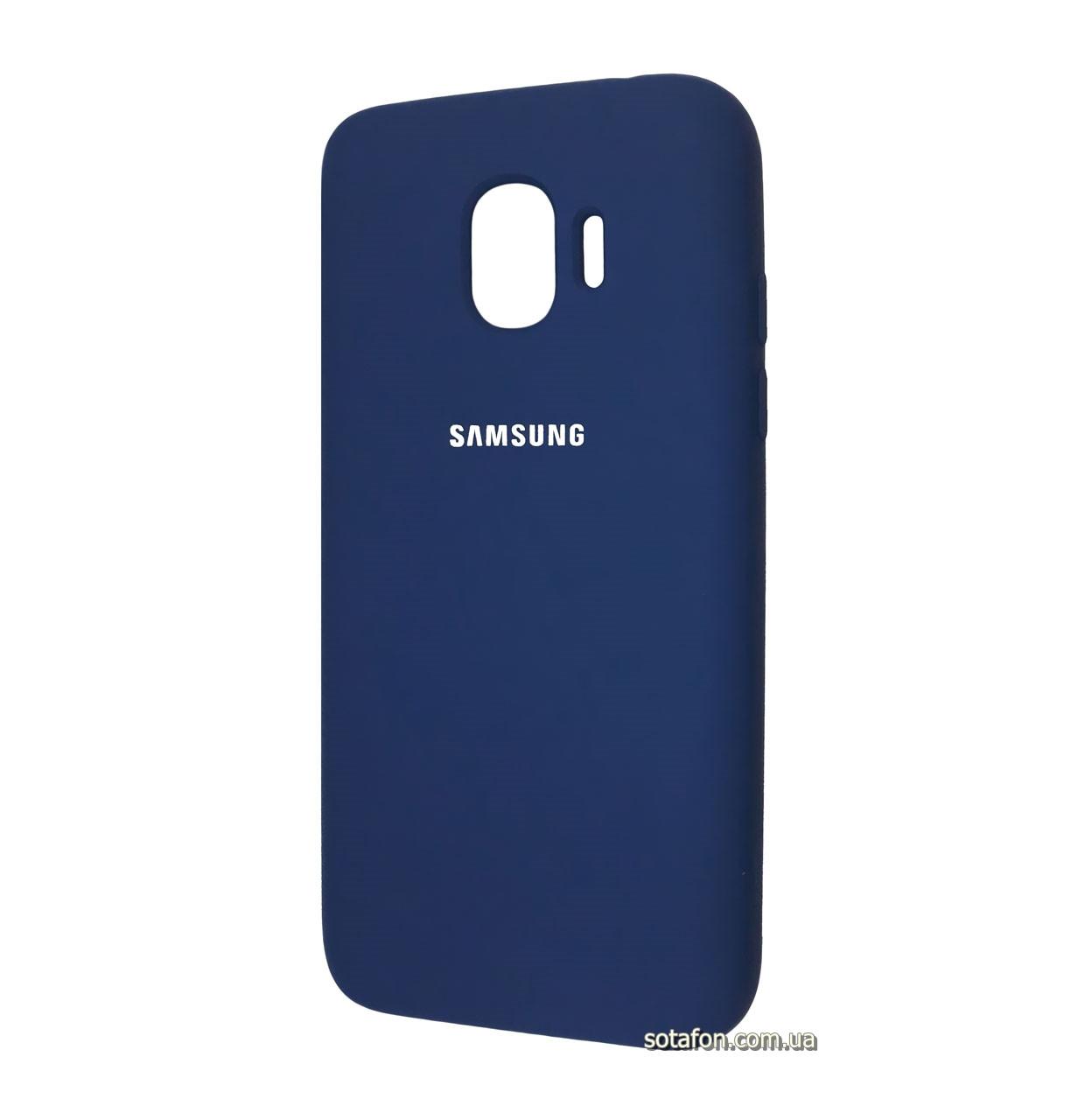 Чехол накладка Original Silicone case на Samsung Galaxy J2 (2018) SM-J250F Dark Blue