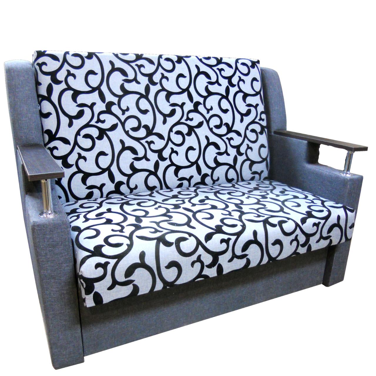 Диван Березня 110см (Вензель сірий диван - ліжко). Дитячий диван з нішею для білизни