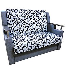 Диван Березня 110см (Вензель сірий диван - ліжко). Дитячий диван з нішею для білизни, фото 2