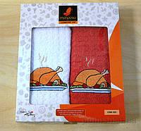 Набор кухонных полотенец Mariposa 023 Куры-гриль 45х70 см