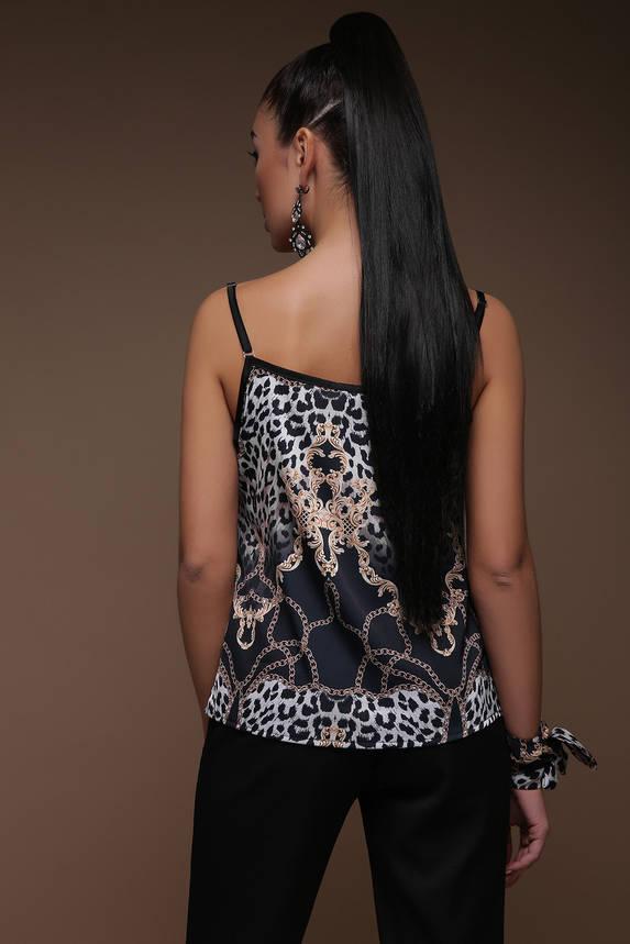 Майка женская шелковая с принтом, фото 2