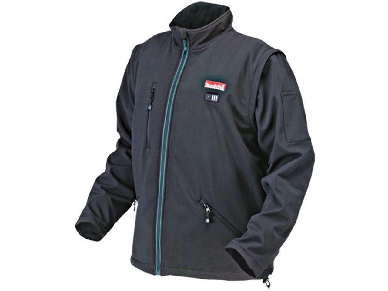 Аккумуляторная куртка с подогревом Makita DCJ 200 ZL
