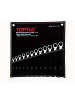 Набор ключей комбинированных Toptul с трещоткой 12 ед. в сумке 8-19 мм GPAQ1202