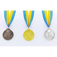 Медаль спортивная с лентой Гимнастика