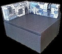 Дитячий Диван-Кубик (Принт сірий) ліжко малютка