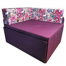 Дитячий Диван-Кубик (Пугач фіолетовий) ліжко малютка