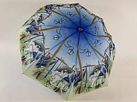 Женский зонт механика на 8 спиц девушка в шляпе