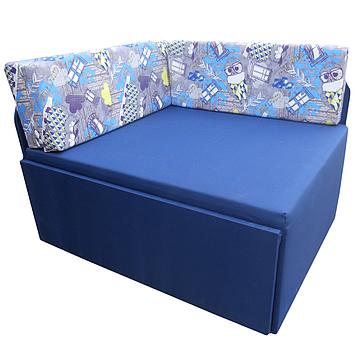 Дитячий Диван-Кубик (Пугач синій) ліжко малютка, фото 2
