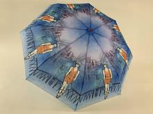 Женский зонт механика на 8 спиц девушка и город