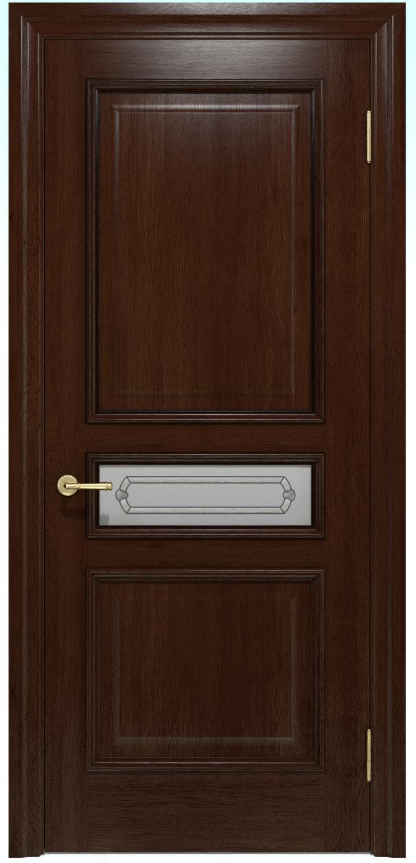 Двери INTERIA I-023.S01, полотно, шпон, срощенный брус сосны