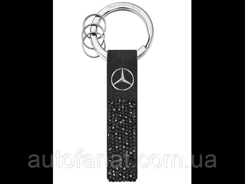 Оригинальный брелок Mercedes-Benz Key Ring, Milano, Black, Swarovski (B66953269)