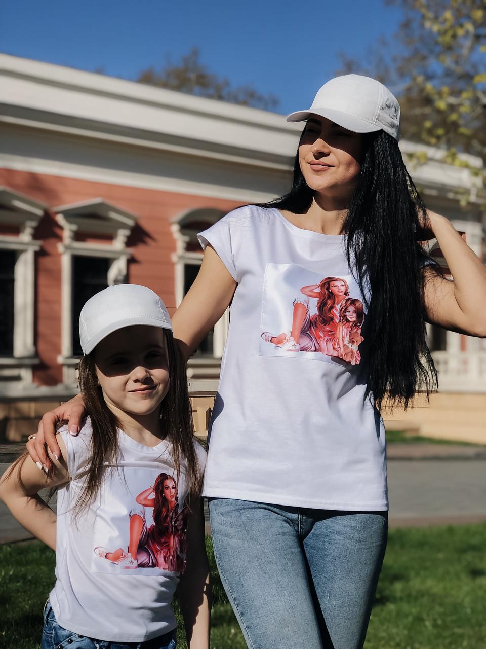 Детская  футболка Мама дочка 2215