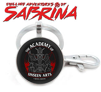 "БрелокЛеденящие душу приключения Сабрины/Chilling Adventures of Sabrina ""The Academy of unseen arts"""