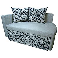Детский диван кровать Шпех (Вензель серый). Диванчик со спальным местом 2 метра длинной
