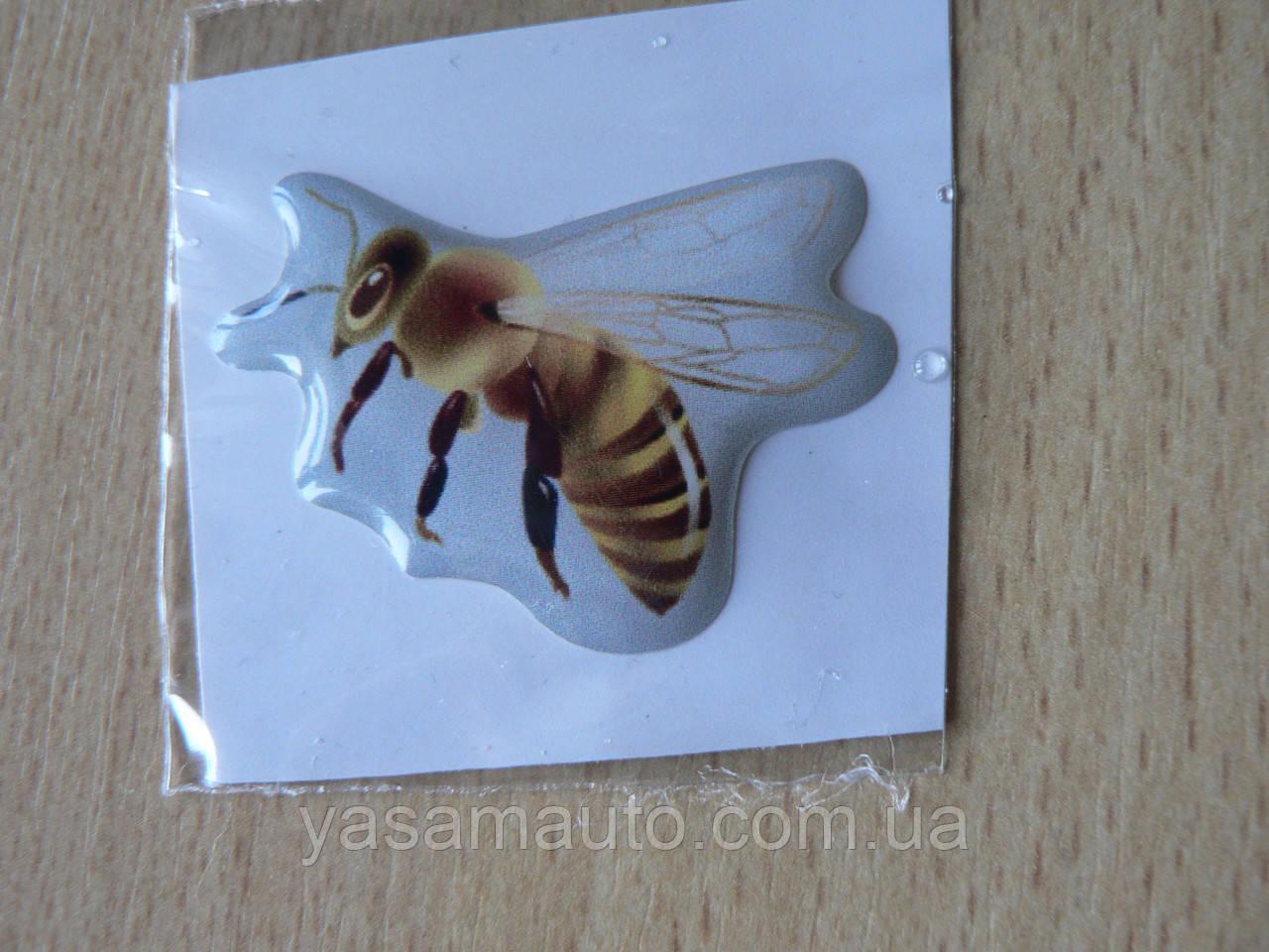 Наклейка s силиконовая Пчела 40х28х1.2мм светлая серый фон