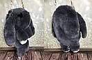 """🐰 Сумка-Рюкзак  🐰  Кролик """"Rex Fendi"""" из меха (зайка, зайчик) как игрушка, фото 6"""