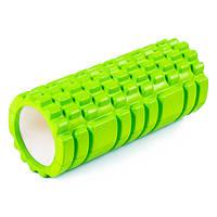 Ролик для йоги, пилатеса, фитнеса 33*14см, салатовый