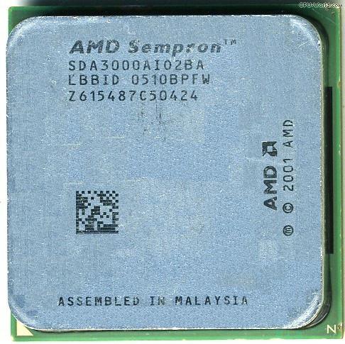 Процессор AMD Sempron 3000+ 1.8MHz/128k/1600 (SDA3000AI02BA) s754, tray