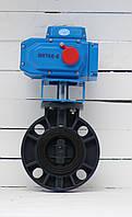 Батерфляй ПВХ Ду 50 з електроприводом, фото 1