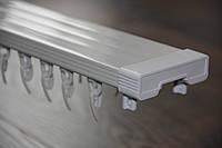 Карниз потолочный двойной усиленный для тяжелых штор Lux S в сборе