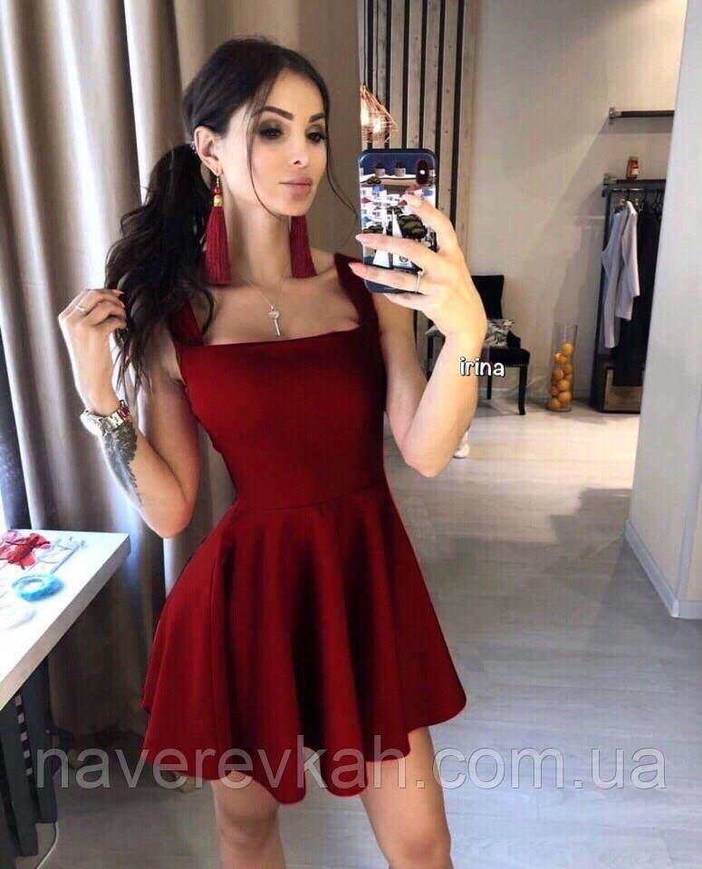 ed6b23eefe9 Летнее женское платье красное черное голубое бордо белое