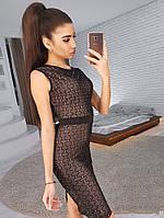 Вечернее облегающее миди платье, фото 1