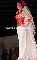 Свадебный наряд, с маками