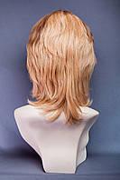Натуральный парик №11,Цвет мелирование пшенично-золотистый с белым