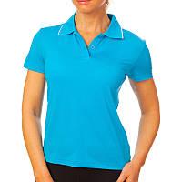Футболка поло женская (голубой)