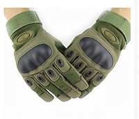 Перчатки тактические Полнопалые OAKLEY Олива с усиленным протектором размер XL, фото 1