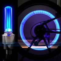 Светящиеся светодиодные колпачки 2шт. на колеса для мотоцикла, велосипеда. Велосипедный золотник 817