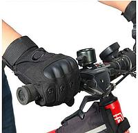 Перчатки тактические Полнопалые  OAKLEY Black с усиленным протектором размер размеры M, L, XL, фото 1