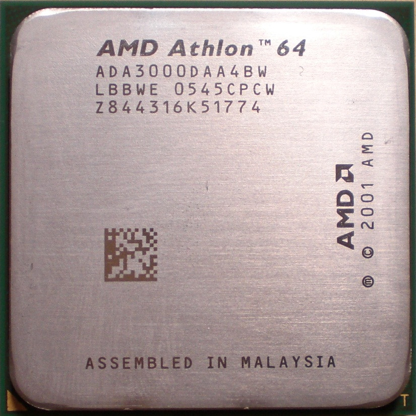 Процессор AMD Athlon 64 3000+ 1.8GHz/512K/1600 (ADA3000DAA4BW) s939, tray