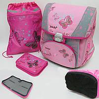 "Набор: рюкзак-коробка+мешок для обуви+пенал плоский ""Butterfly"
