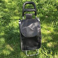 Тележка ручная двухколесная кравчучка на колесиках (тачка хозяйственная) тканевая 93 см, фото 1