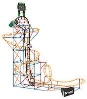 K'NEX Конструктор Атака пантеры очки виртуальной реальности Thrill Rides Panther Attack Roller Coaster 690 Piece Building Set