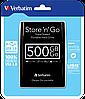 """Внешний жесткий диск 500 Гб/Gb Verbatim Store""""n""""Go, USB 3.0, 5400 rpm (53029), портативный винчестер, фото 4"""