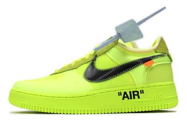 Мужские кроссовки Nike air Force x Off-white Green