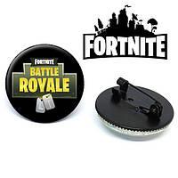 "Значок Fortnite ""Battle Royale"" чёрного цвета"