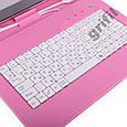 "Чехол клавиатура для ПК планшета 7"" Rus Pink, фото 4"