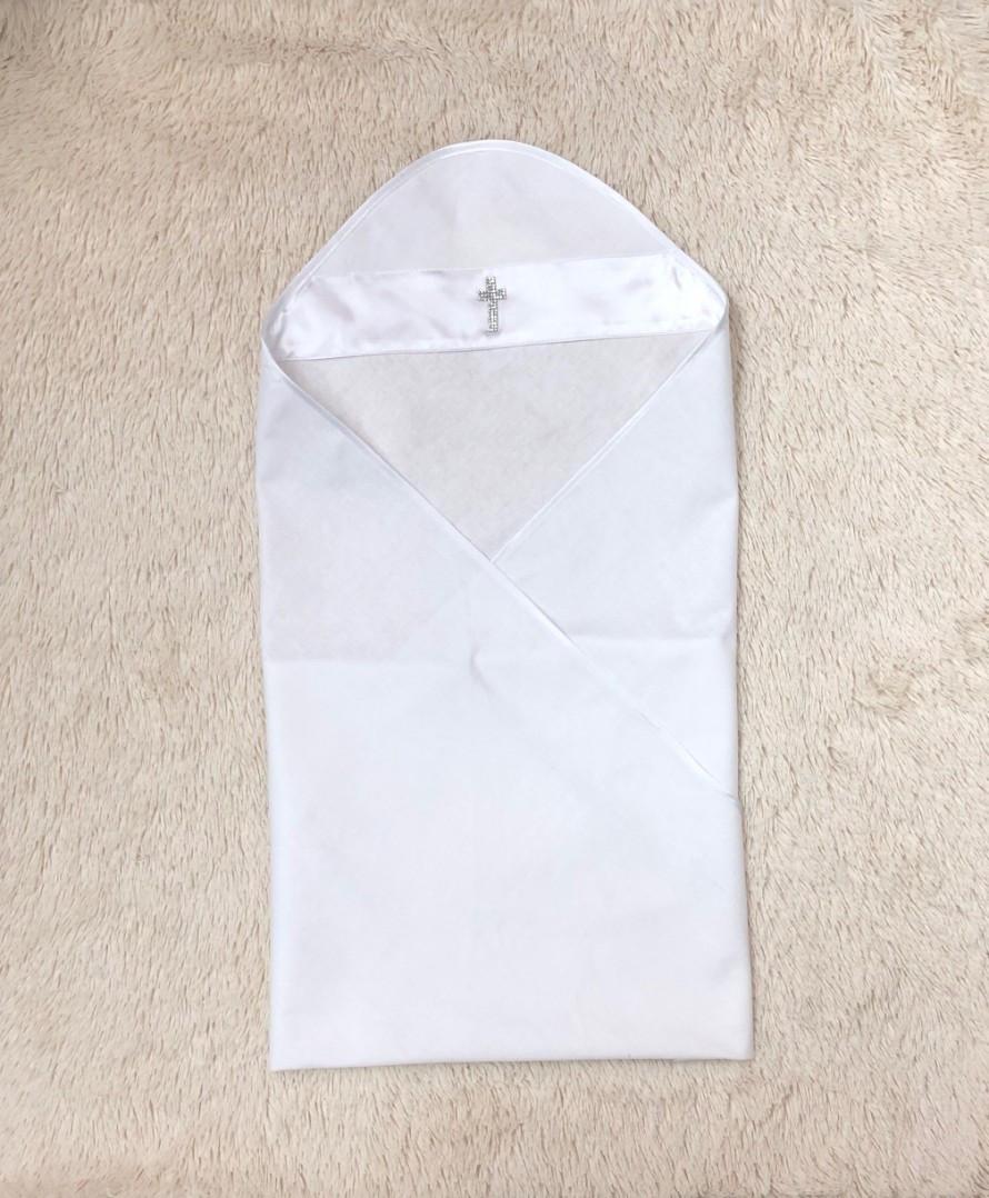 Крестильная пеленка крыжма Ангел (белая)